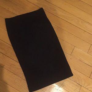 Black tube skirt